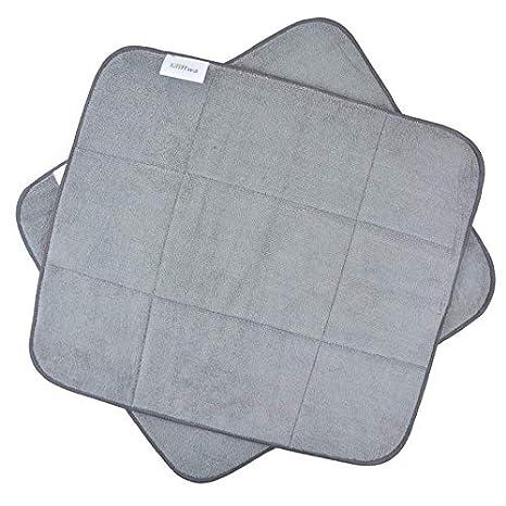 kitchen dish drying mat white eyelet curtains 超细纤维厨房洗碗垫xl 吸水性干燥垫40 64x45 72 厘米2 件装灰色