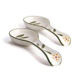 Kitchen Spoon Rest 4 Piece Appliance Package Temp Tations 旧世界vivid 2件套勺子休息绿色 厨具 亚马逊中国