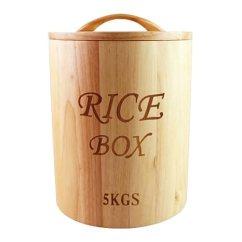 Rubbermaid Kitchen Storage Containers Buffet Liveon 力王5kg橡胶木圆形木米桶环保米箱米缸面箱储米箱防虫防蛀环保送 力王5kg橡胶木圆形木米桶环保米箱米缸