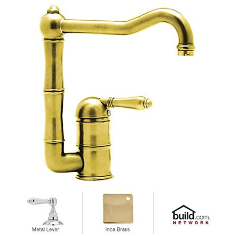 rohl kitchen faucet zephyr hurricane ak2500 hood a3608lmib 2 country 厨房水龙头 带金属杆手柄 inca 黄铜