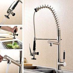 Menards Kitchen Sink Track Lighting Kits Vapsint 行业无铅单手柄单孔不锈钢弹簧预冲洗喷水水拉出式厨房水龙头 行业无铅单手柄单孔不锈钢弹簧预冲洗喷水水拉