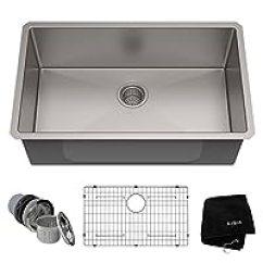 Kitchen Sink Rugs Hape 水槽 厨房用品 家居装修 亚马逊 美国kraus 克劳思1 5mm厚304不锈钢拉丝单盆厨房水槽手工