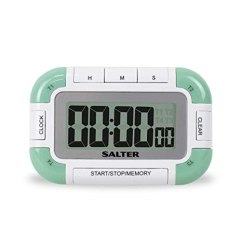 Digital Kitchen Timers Round Black Table Salter 4 路数字厨房计时器 电子烹饪 烘焙秒表 个定时器带有单个大声 个