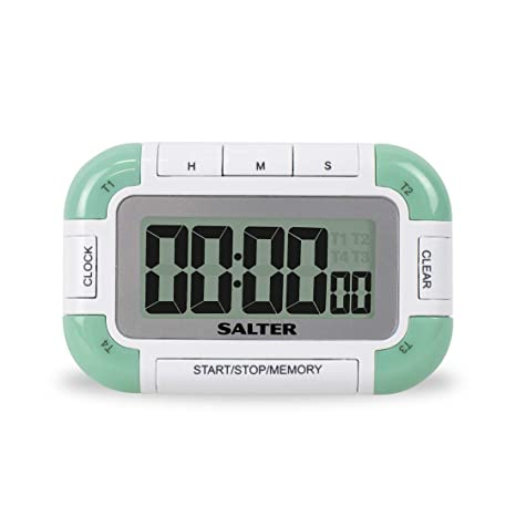 digital kitchen timers inset cabinets salter 4 路数字厨房计时器 电子烹饪 烘焙秒表 个定时器带有单个大声 个