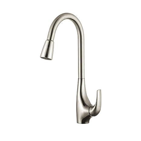 kraus kitchen faucet counter 美国kraus 克劳思拉丝厨房冷热抽拉水槽龙头 可180度旋转kpf 1621ss kpf 可180