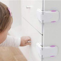 Kitchen Cabinet Latches Custom Island For Sale 4 件装 橱柜可锁儿童 婴儿防腐橱柜闩 适用于厨房储藏门 抽屉 纸板