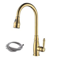 36 Inch Kitchen Sink Cost For New Cabinets Kes L6932单手柄高arc 厨房水槽水龙头带pull Out 喷雾器和旋转喷头 喷雾器和旋转