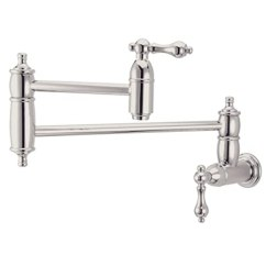 Kitchen Pot Filler Ladders And Stools Kingston 黄铜ks3106al 修饰锅填料 长33 02 厘米 抛光镍