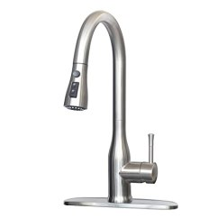 Stainless Steel Kitchen Faucet With Pull Down Spray Cabinet For Sale Mstjry 厨房水槽水龙头带下拉式喷雾器16 5 英寸不锈钢拉出水龙头厨房水槽