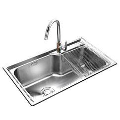 Kitchen Sink Amazon Gel Mats Jomoo 九牧厨房水槽套餐单槽304不锈钢洗碗池洗菜盆加厚水盆一体水槽02117 九牧厨房水槽套餐单槽304不锈钢洗碗池洗菜盆加