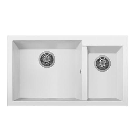 blanco kitchen sink making a table telma on8620 tg 牛奶白色厨房水槽合成材料 20 x 50 86厘米 奶白色