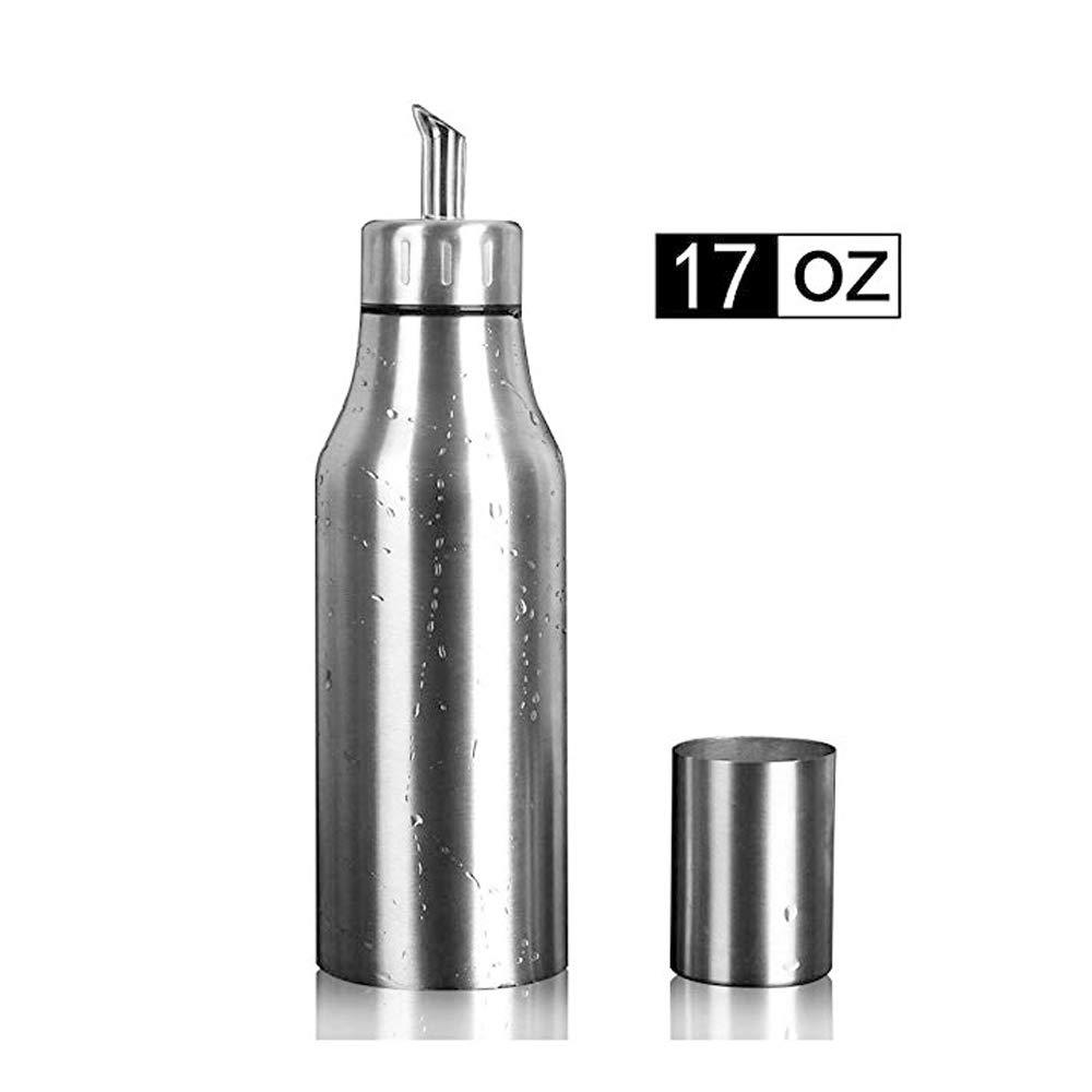 oil dispenser kitchen long rugs per home 不锈钢橄榄油分配器防漏厨房油瓶银色17 盎司cominhkpr141370 亚马逊中国 厨具 海外购美亚直邮
