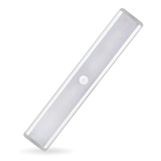 outdoor kitchen cabinets polymer nook style table tospon 无线运动传感器灯 10 个led 便携式感应磁性条纹衣柜灯带usb 充电 便携式感应磁性条纹衣柜灯带