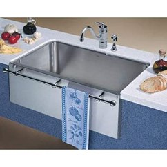 36 Inch Kitchen Sink Storage Ideas For Small Spaces Blanco 440294 Magnum 单水槽不锈钢厨房水槽带镀铬浴巾 Satin