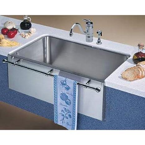 36 inch kitchen sink milo's blanco 440294 magnum 单水槽不锈钢厨房水槽带镀铬浴巾 satin