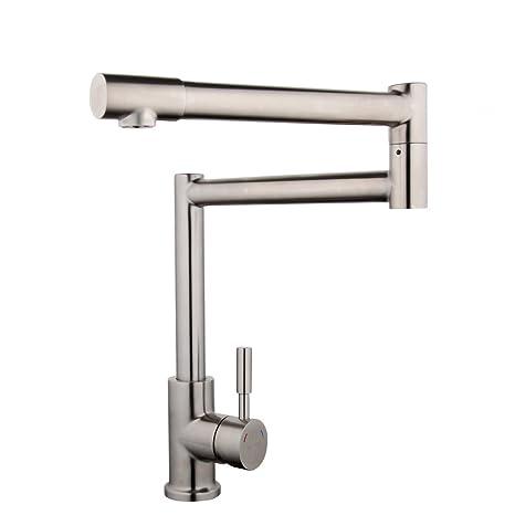 articulating kitchen faucet window box gappo 无铅锅填料厨房水龙头360 度单孔不锈钢台面安装水龙头