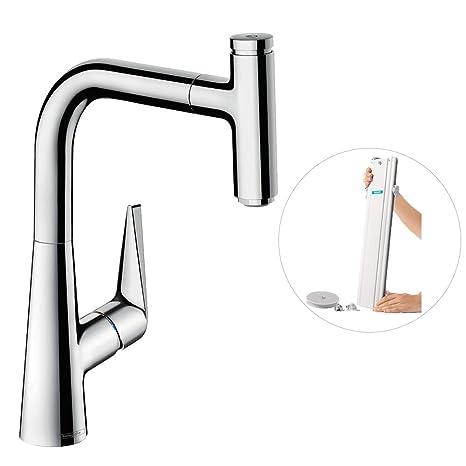 chrome kitchen faucet vintage islands hansgrohe 汉斯格雅单杆厨房龙头 舒适高度铬白auslaufhohe 220mm