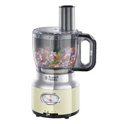 Kitchen Aid Mixer Attachments Blinds For Windows Russell Hobbs 25182 56 食物处理器复古奶油色 2档速度等级 脉冲 冰崩