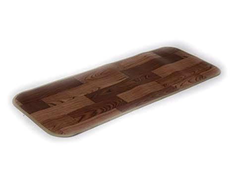 amazon kitchen mat how to refinish stained wood cabinets 武田集团 垫子 小块 木纹风格厨房垫深棕色dnm45180db 武田
