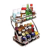 kitchen spice rack play kitchens for kids 调料架 厨房置物架 厨具 亚马逊 宝优妮厨房调料架置物架不锈钢用品