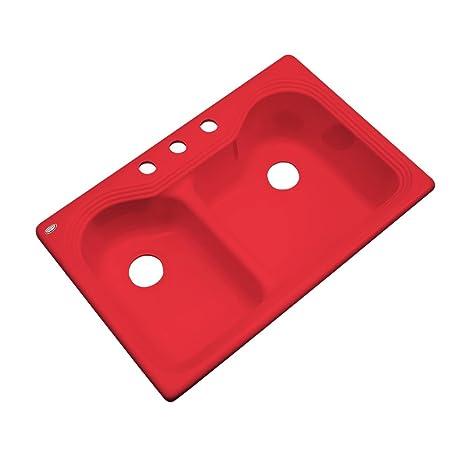 cast iron kitchen sinks corner for sale dekor 56364 buckingham 双碗铸铁亚克力厨房水槽 3 孔 83 82 厘米