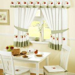 Fruit Kitchen Curtains Desk Chair 水果铅笔褶厨房窗帘和背带 绿色 白色 46 X 48 英寸 Fruits 价格报价图片