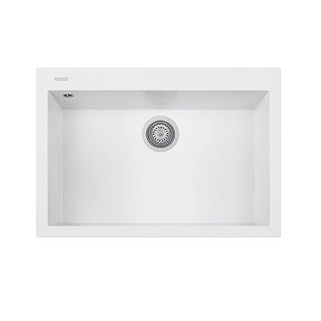 blanco kitchen sink remodeling ideas on a small budget telma on7610 tg 28牛奶白色厨房水槽复合材料 20 x 50 76厘米 奶白色 76