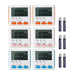 Digital Kitchen Timers Tables For Small Spaces Ruyixws 24 小时数字厨房计时器 大液晶显示屏 大闹钟 磁性背带支架