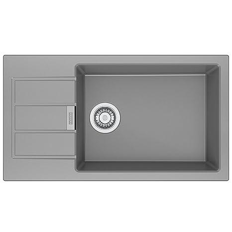gray kitchen sink protectors franke 114 0496 098 花岗岩厨房水槽 单碗 灰色 家居装修 亚马逊中国