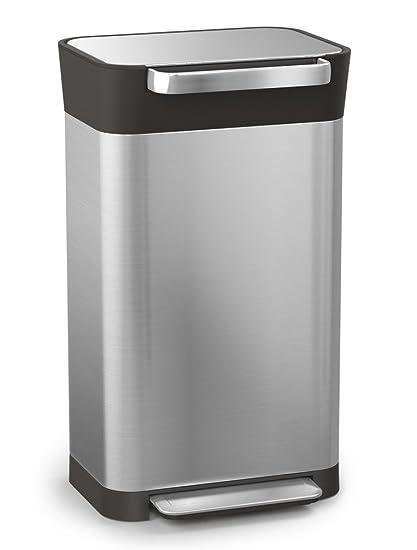13 gallon kitchen trash can gel mats for joseph 30030 intelligent 垃圾titan 垃圾桶compactor 不锈钢8 不锈钢8加仑银色