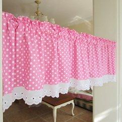 Kitchen Curtain Sets Rta Cabinets Online Wpkira 窗帘完美可爱小点花边杆套杆窗帘适用于厨房窗帘 玻璃窗帘面板1 件
