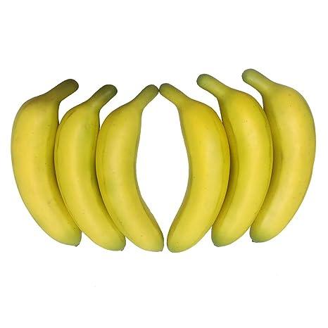 kitchens store washable kitchen rugs target 6 件套假香蕉人造水果逼真黄色香蕉适用于家庭厨房商店装饰黄色 arflo 件套假香蕉人造水果逼真黄色香蕉适用于家庭厨房商店装饰
