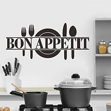 kitchen vinyl outdoor pergola yoyoyu 厨房房间墙壁贴花 bon appetit 厨房装饰乙烯基adesivo 家居装饰