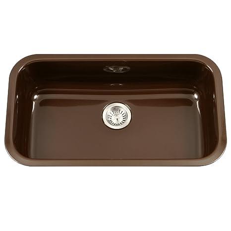 36 inch kitchen sink under cabinet lights houzer pcg 3600 es porcela 系列陶瓷珐琅钢底单碗厨房水槽 大号