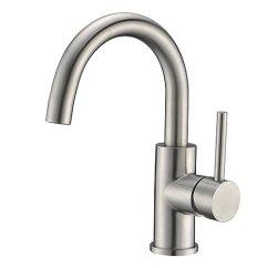 Farm Kitchen Sink Costco Remodel 浴室 吧水龙头crea 农场厨房水槽搅拌机龙头拉丝不锈钢40116 Crea