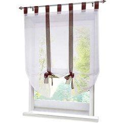 Kitchen Curtains Amazon Banquette Ideas 86 York 厨房门系带遮阳短半窗帘丝带透明网罗马纱1 片 价格