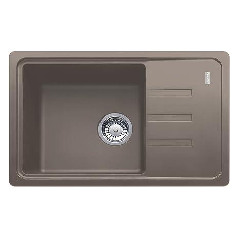 deep kitchen sink high end cabinets franke 114 0367 765 granite 厨房水槽带单碗 深咖啡色 家居装修 亚马逊中国