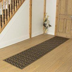 Kitchen Rug Runners Gel Mat Carpet 英国chevron Hall Stair 地毯跑鞋 防污防滑 深棕色 深