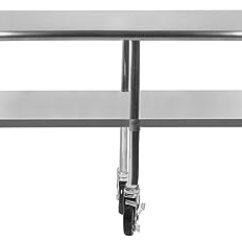 Kitchen Benches Upholstered Chairs Amgood 不锈钢工作桌 架子底和4 轮 洗衣车库实用长椅 准备工作桌