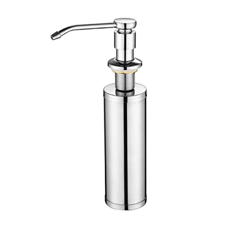 kitchen soap spice rack 厨房肥皂分配器泵不锈钢 内置水槽肥皂盒 安装下肥皂盒瓶泵 台面手分配 安装下肥皂盒