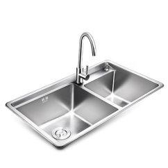 Kitchen Sink Amazon Extra Large Stainless Steel Sinks Higold 悍高厨房水槽304不锈钢0 9mm一体拉伸加厚洗菜盆大单双槽水槽拉伸 9mm一体拉伸加厚洗