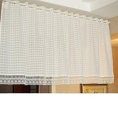Kitchen Curtains Amazon Island Bar Lights Olizee 优雅白色蕾丝厨房窗帘透明窗帘半窗帘适用于窗户 门户白色59 X35 4 门户白色