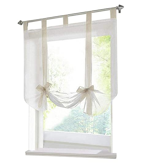 kitchen curtains amazon french country decor 86 york 厨房门系带遮阳短半窗帘丝带透明网罗马纱1 片 价格