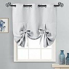 Grommet Kitchen Curtains Honest 200元左右的窗帘 窗纱推荐 品牌销量排行 慢慢买手机版 Pony Dance 厨房窗户索环顶部隔热遮光窗帘布板包括6 个