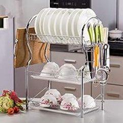 Kitchen Inventory Eco Friendly Cabinets 包含无库存商品 酒架 厨房置物架 厨具 亚马逊 三层碗碟架沥水架多功能碗盘架插刀