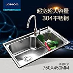 Kitchen Sink Amazon Aid Cooktop 800 999元 水槽 厨房用品 家居装修 亚马逊 Jomoo 九牧厨房水槽套餐单槽304不锈钢洗碗池洗菜盆加