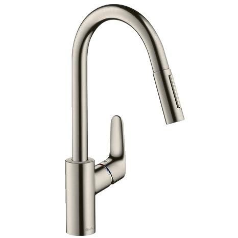 high flow kitchen faucet aerator bar stools amazon hansgrohe 汉斯格雅福柯斯240单把手厨房龙头不锈钢色 31815800