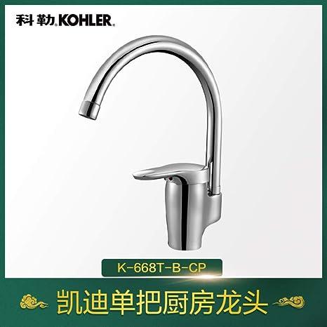 kitchen faucets kohler black sink 科勒凯迪系列单把冷热厨房龙头k 668t b 铸铜本体 厂商直送