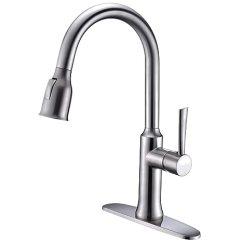 Kitchen Sink At Lowes Booths For Sale 拉出式厨房水龙头拉式厨房水槽混合龙头 带拉式喷雾器 Brushed Steel