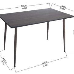 Amazon Kitchen Table Cabinets St Louis 餐桌 厨房桌 中世纪餐桌 现代木质餐厅桌带斜角桌适用于家庭办公室 现代木质餐厅桌带斜角桌